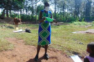 The Water Project: Shihungu Community, Shihungu Spring -  Training On Mask Making