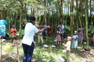 The Water Project: Eshiasuli Community, Eshiasuli Spring -  Handwashing Demonstrations