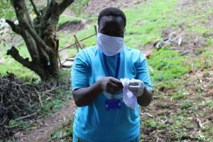 The Water Project: Eshiasuli Community, Eshiasuli Spring -  Mask Making Demonstration