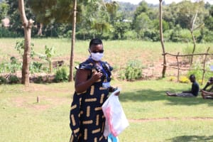 The Water Project: Kalenda A Community, Webo Simali Spring -  Facilitator Chelagat Leading The Training