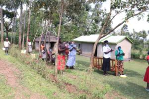 The Water Project: Kalenda A Community, Webo Simali Spring -  Following Training On Handwashing Steps