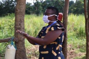 The Water Project: Kalenda A Community, Webo Simali Spring -  Leading The Handwashing Demonstration