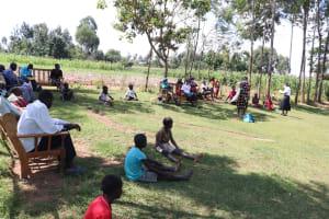 The Water Project: Kalenda A Community, Webo Simali Spring -  Ongoing Covid Sensitization