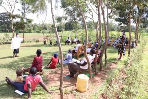 The Water Project: Kalenda A Community, Webo Simali Spring -  Use Of Reminder Charts At The Training