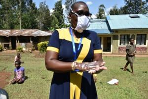 The Water Project: Shamiloli Community, Kwasasala Spring -  Following On The Handwashing Steps