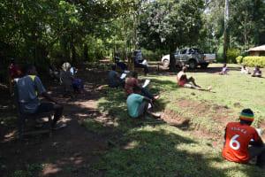 The Water Project: Shamiloli Community, Kwasasala Spring -  Ongoing Covid Sensitization