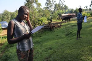 The Water Project: Sasala Community, Kasit Spring -  Following Training Keenly