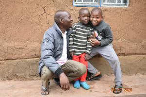 The Water Project: Emukoyani Community, Ombalasi Spring -  Niskson With His Two Sons