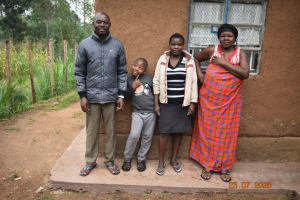 The Water Project: Emukoyani Community, Ombalasi Spring -  Niskson With Part Of His Family