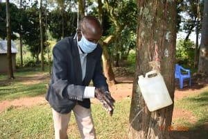 The Water Project: Eshiakhulo Community, Kweyu Spring -  David Kweyu At His Handwashing Station