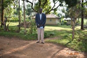 The Water Project: Eshiakhulo Community, Kweyu Spring -  David Kweyu Outside His Home