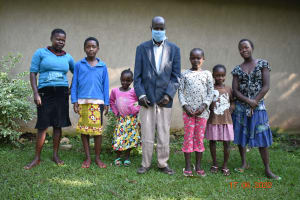 The Water Project: Eshiakhulo Community, Kweyu Spring -  David Kweyu With His Family