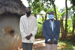 The Water Project: Eshiakhulo Community, Kweyu Spring -  David Kweyu With The Chair Of The Water User Committee