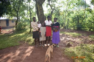 The Water Project: Shikhombero Community, Atondola Spring -  Serilah With Her Kids