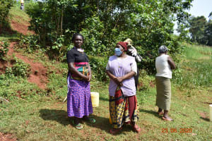 The Water Project: Shikhombero Community, Atondola Spring -  Serilah With Other Water Users