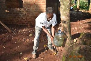 The Water Project: Busichula Community, Marko Spring -  Simon Mulongo Washing His Hands