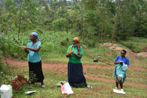 The Water Project: Hedwe Community, Wakidima Spring -