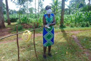 The Water Project: Munzakula Community, Musonye Spring -  Demonstrating The Ten Steps Of Handwashing
