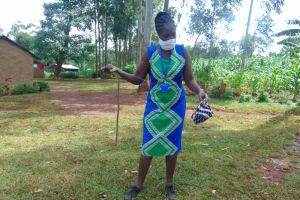 The Water Project: Munzakula Community, Musonye Spring -  Mask Making Demonstration