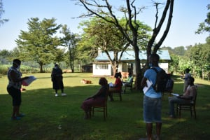 The Water Project: Shitaho Community, Andrea Kong'o Spring -  Participants Attend A Covid Sensitization Training