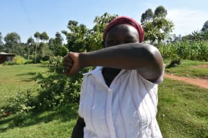The Water Project: Wamuhila Community, Isabwa Spring -  Elbow Cough