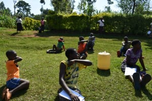 The Water Project: Wamuhila Community, Isabwa Spring -  Elbow Coughing Demonstration