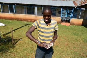 The Water Project: Wamuhila Community, Isabwa Spring -  Handwashing Demonstrations