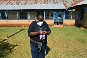 The Water Project: Wamuhila Community, Isabwa Spring -  Mask Making Training