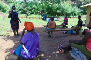 The Water Project: Ebung'ayo Community, Wycliffe Spring -  Team Leader Catherine Addressing The Community Members
