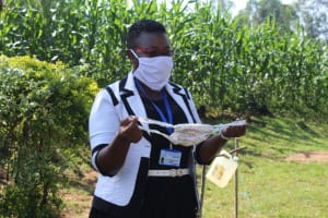 The Water Project: Shiamboko Community, Oluchinji Spring -  A Complete Hand Sewn Mask