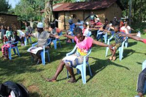 The Water Project: Shiamboko Community, Oluchinji Spring -  Conducting The Social Distancing Test