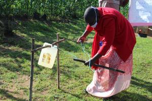 The Water Project: Shiamboko Community, Oluchinji Spring -  Making A Tippy Tap