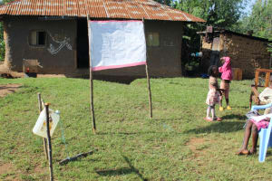 The Water Project: Shiamboko Community, Oluchinji Spring -  The Chart Erected Temporarily For Training Purposes