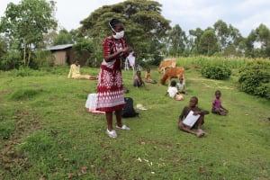 The Water Project: Mumuli Community, Shalolwa Spring -  Mask Making