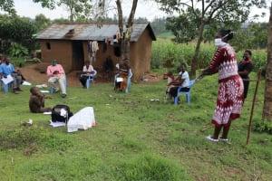 The Water Project: Mumuli Community, Shalolwa Spring -  The Handwashing Exercise