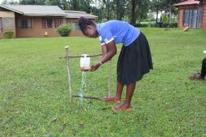The Water Project: Lutonyi Community, Shihachi Spring -  Handwashing