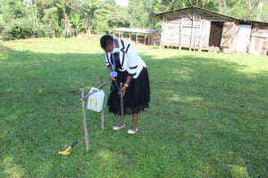 The Water Project: Lutonyi Community, Shihachi Spring -  Showing How To Build A Tippy Tap Handwashing Station