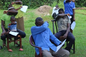 The Water Project: Lutonyi Community, Shihachi Spring -  How To Handle A Cough Or Sneeze