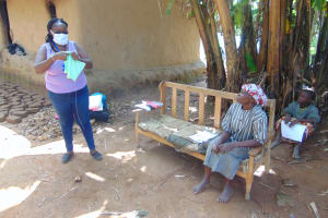 The Water Project: Handidi Community, Matunda Spring -  Mask Making