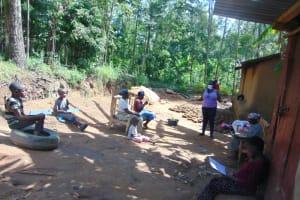 The Water Project: Handidi Community, Matunda Spring -  Ms Njeri Leading The Training