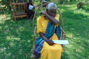 The Water Project: Mukhuyu Community, Shikhanga Spring -  Elbow Cough