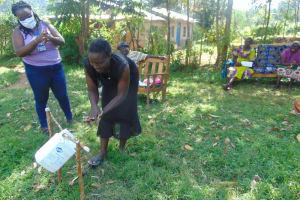 The Water Project: Mukhuyu Community, Shikhanga Spring -  Handwashing Training