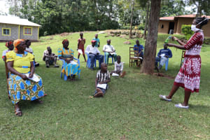 The Water Project: Ematiha Community, Ayubu Spring -  Training In Session