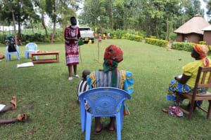The Water Project: Ematiha Community, Ayubu Spring -  Teaching A Cheap And Easy Way To Make A Mask