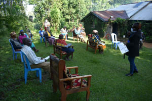 The Water Project: Shitoto Community, Laurence Spring -  Trainer Mary Addresses The Group