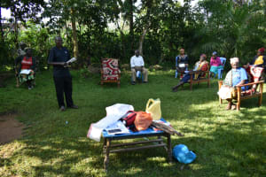 The Water Project: Shitoto Community, Laurence Spring -  Water User Committee Chair Addresses The Group