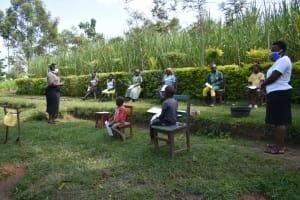 The Water Project: Shikoti Community, Amboka Spring -  Ms Karen Leading The Session