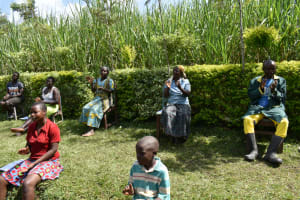 The Water Project: Shikoti Community, Amboka Spring -  Remember To Stick To Contactless Greetings