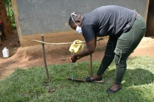 The Water Project: Shikoti Community, Amboka Spring -  Rinse Hands With Clean Water