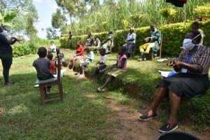 The Water Project: Shikoti Community, Amboka Spring -  The Handwashing Exercise
